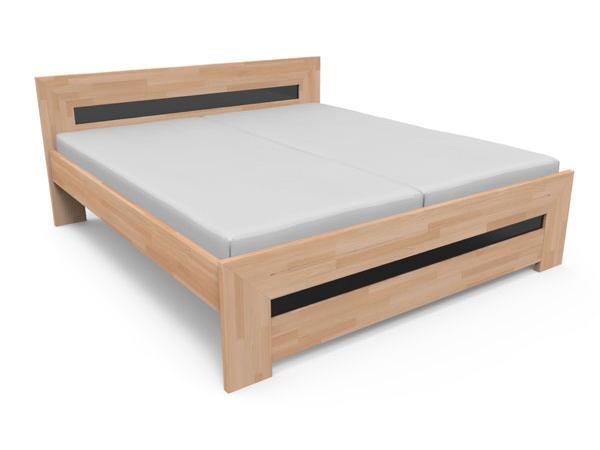 Manželská postel 180 cm - Styler - Salma (masiv)